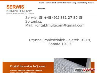 Multicom - Serwis i sprzedaż laptopów